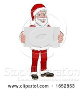 Vector Illustration of Young Santa Claus Holding Sign Christmas by AtStockIllustration
