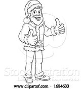 Vector Illustration of Young Santa Sign Thumbs up Christmas by AtStockIllustration