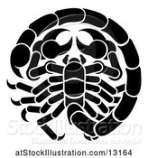 Vector Illustration of Zodiac Horoscope Astrology Scorpio Design in Black and White by AtStockIllustration
