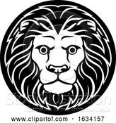 Vector Illustration of Zodiac Signs Leo Lion Icon by AtStockIllustration