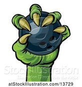 Vector Illustration of Zombie Hand Holding a Bowling Ball by AtStockIllustration