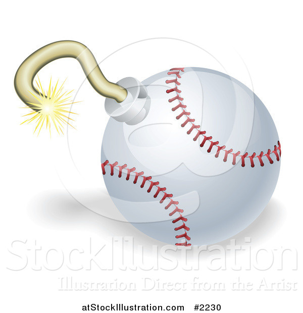 Vector Illustration of a 3d Baseball Bomb