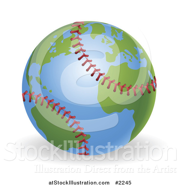 Vector Illustration of a 3d Baseball Globe