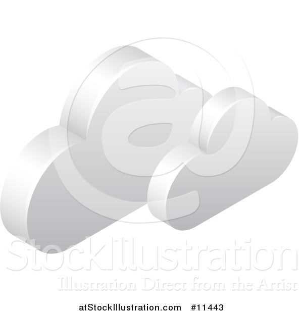 Vector Illustration of a 3d Clouds Icon