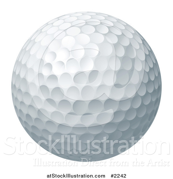 Vector Illustration of a 3d Golf Ball