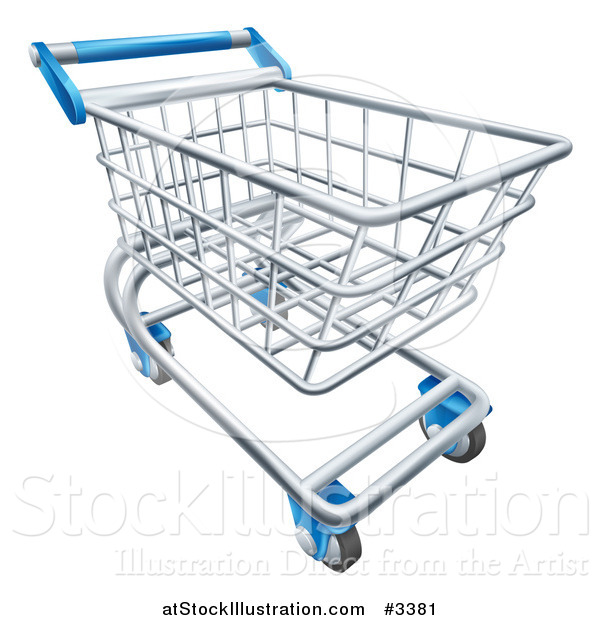 Vector Illustration of a 3d Shopping Cart