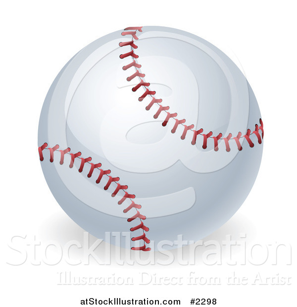 Vector Illustration of a 3d Stitched Baseball