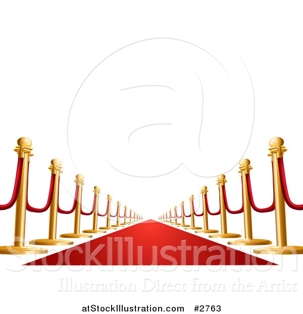 Vector Illustration of a 3d VIP Red Carpet