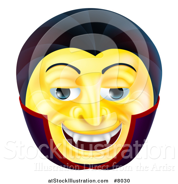 Vector Illustration of a 3d Yellow Smiley Emoji Emoticon Face