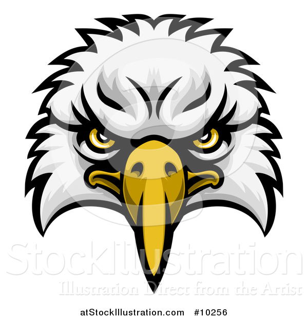 Vector Illustration of a Bald Eagle Mascot Face