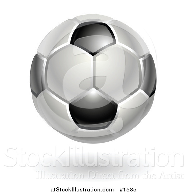 Vector Illustration of a Black and White Association Football Soccer Ball