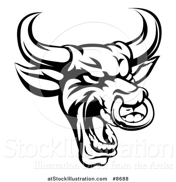 El juego de las imagenes-http://atstockillustration.com/600/vector-illustration-of-a-black-and-white-roaring-bull-mascot-head-with-a-nose-ring-by-atstockillustration-8688.jpg