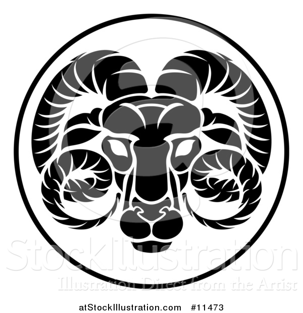 Vector Illustration of a Black and White Zodiac Horoscope Astrology Aquarius Circle Design