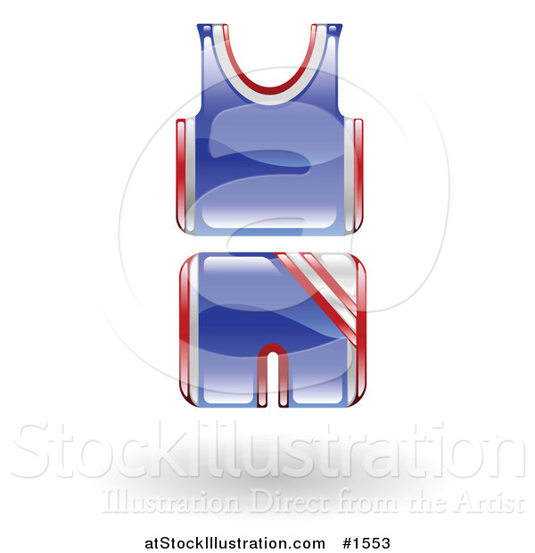 Vector Illustration of a Blue and Red Basketball Uniform