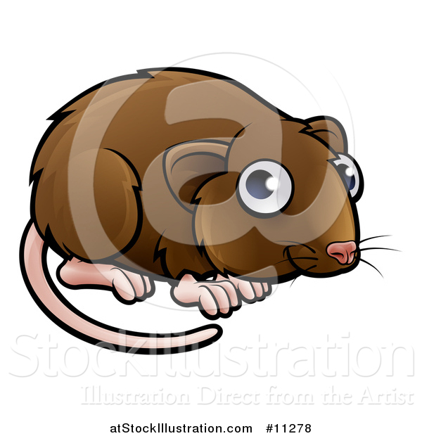 Vector Illustration of a Cartoon Cute Vole