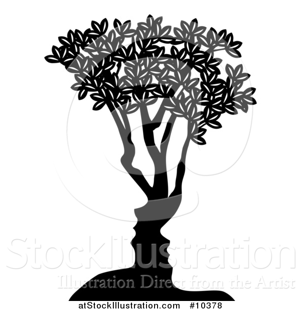Vector Illustration of a Couple Formed in the Trunk