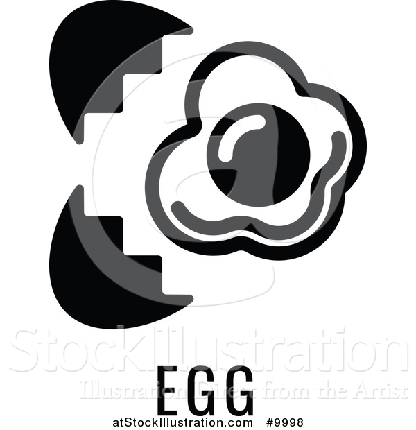 Vector Illustration of a Egg over Text