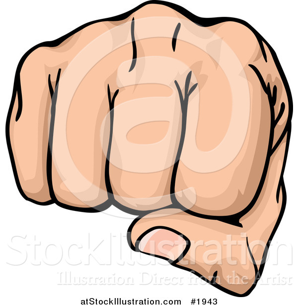 Vector Illustration of a Fist Punching