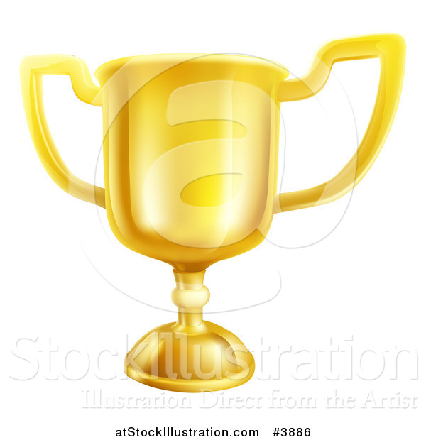 Vector Illustration of a Gold Trophy Cup