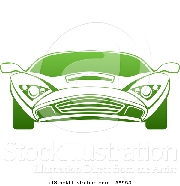 Vector Illustration of a Gradient Green Sports Car