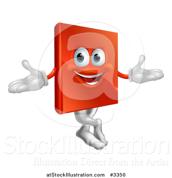 Vector Illustration of a Happy Book Mascot