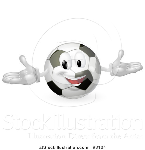 Vector Illustration of a Happy Soccer Ball Mascot