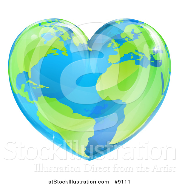 Vector Illustration of a Heart Earth
