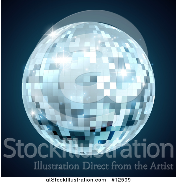 Vector Illustration of a Mirror Disco Ball