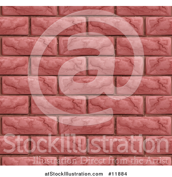 Vector Illustration of a Seamless Red Brick Wall Texture Background
