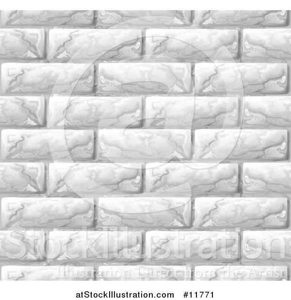 Vector Illustration of a Seamless White Brick Wall Texture Background