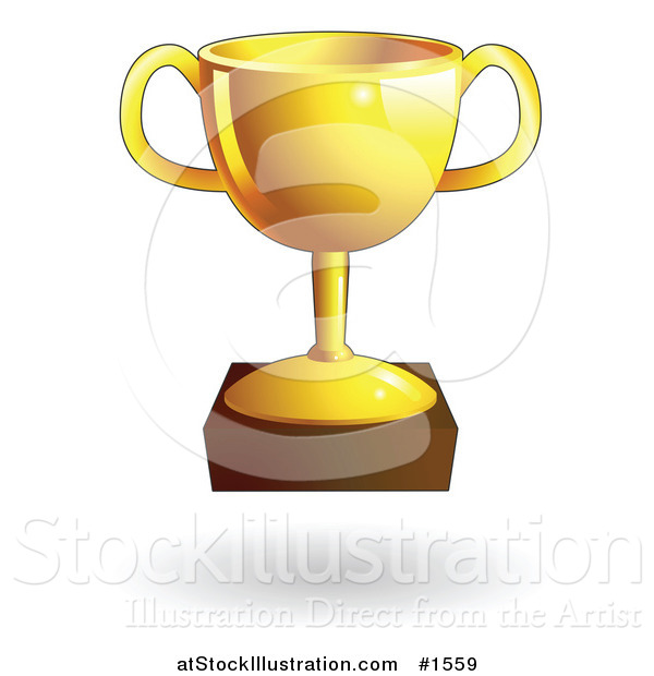 Vector Illustration of a Shiny Gold Trophy Cup