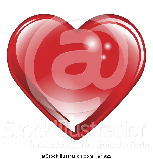 Vector Illustration of a Shiny Red Valentine's Day Heart