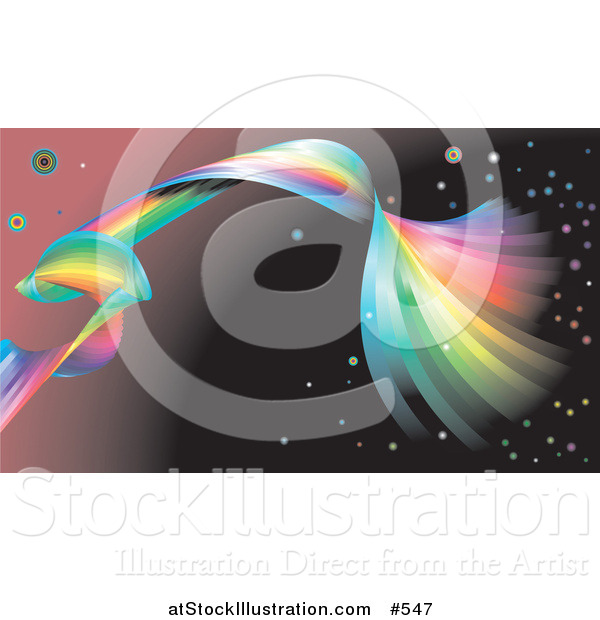 Vector Illustration of a Spiraling Rainbow Background