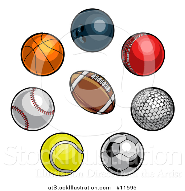 Vector Illustration of a Sports Balls