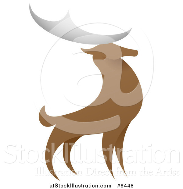 Vector Illustration of a Standing Stag Deer Buck