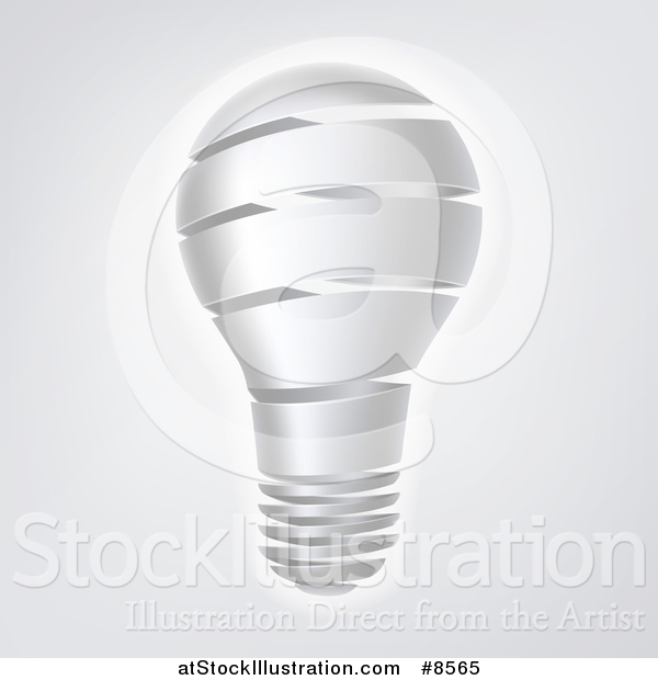 Vector Illustration of a Strip Light Bulb over Gray