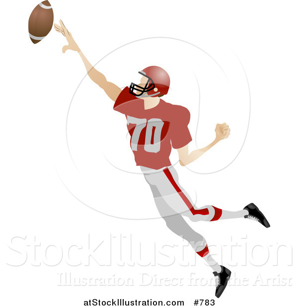 Vector Illustration of an American Football Player