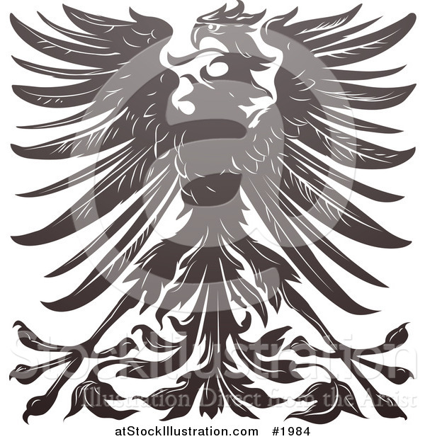 Vector Illustration of an Imperial Eagle Design