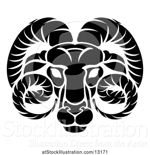 Vector Illustration of Aries Ram Zodiac Horoscope Astrology Sign
