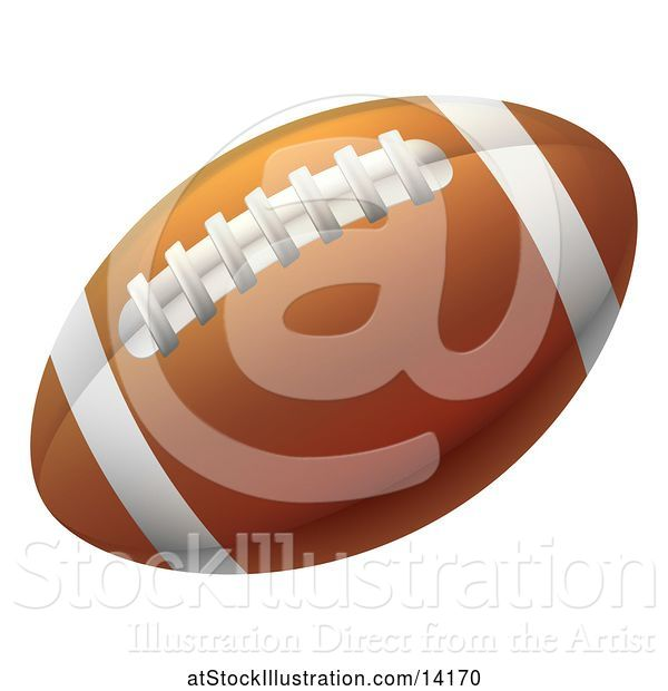Vector Illustration of Brown American Football