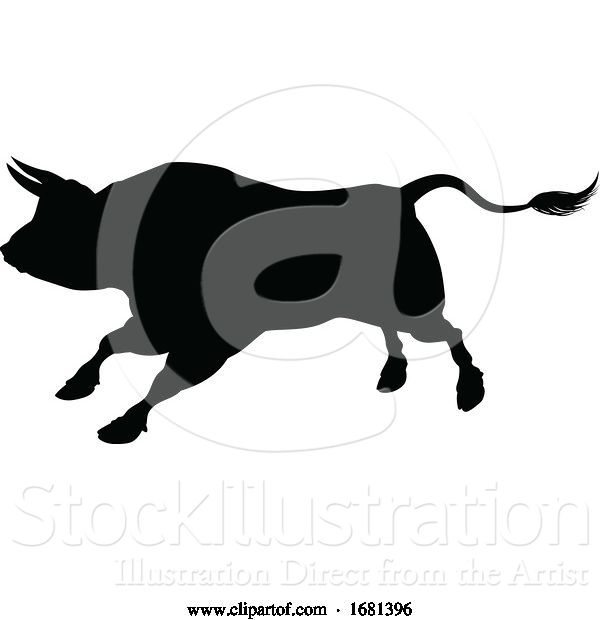 Vector Illustration of Bull Silhouette