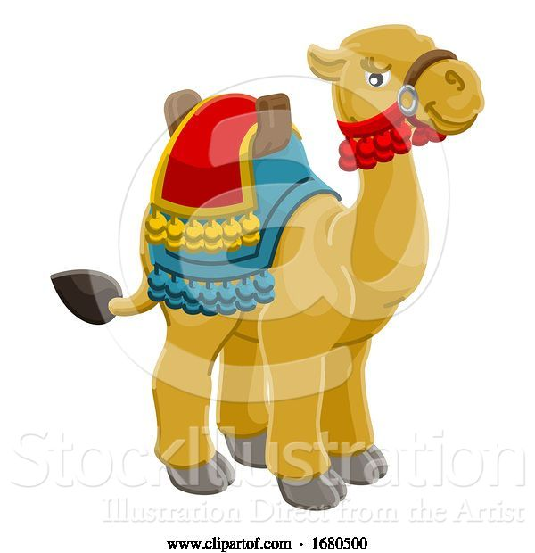Vector Illustration of Camel Animal Character