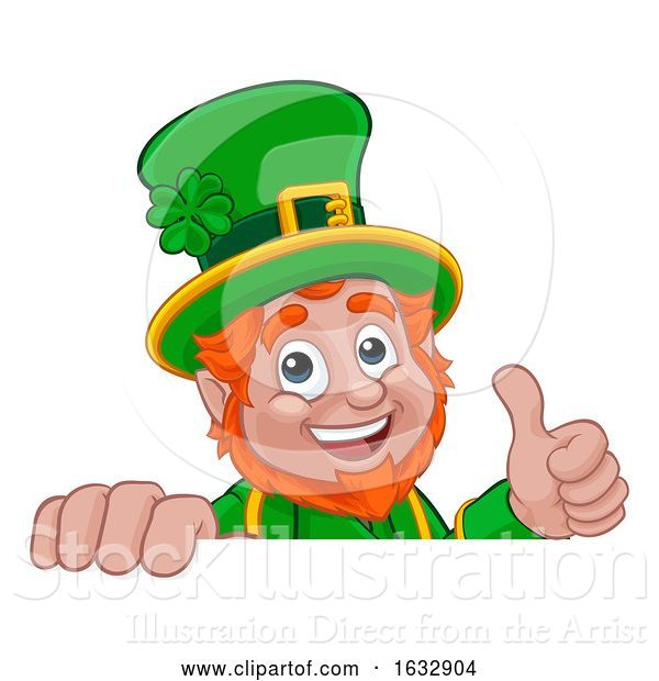 Vector Illustration of Cartoon Leprechaun St Patricks Day Character