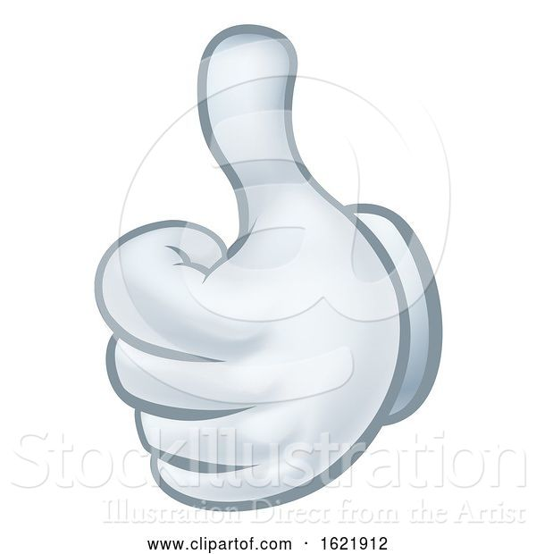 Vector Illustration of Cartoon Thumbs up Glove Hand