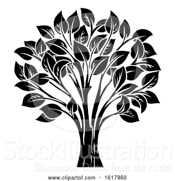Vector Illustration of Conceptual Tree