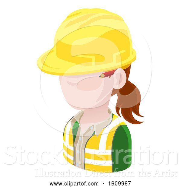Vector Illustration of Contractor Avatar People Icon