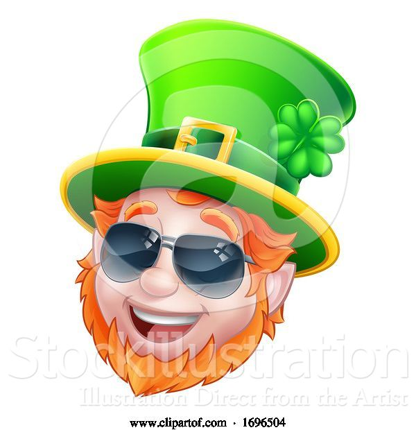 Vector Illustration of Cool Sunglasses Leprechaun St Patricks Day