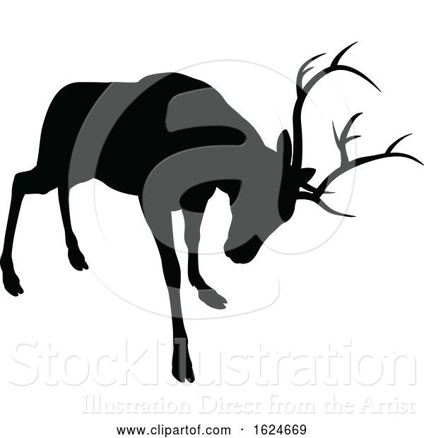 Vector Illustration of Deer Animal Silhouette