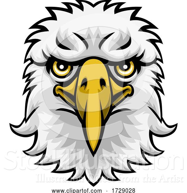 Vector Illustration of Eagle Mascot Character