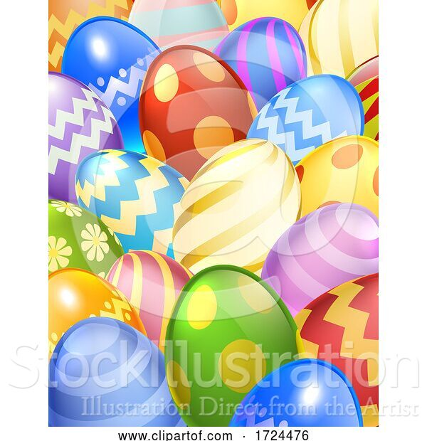 Vector Illustration of Easter Eggs Background